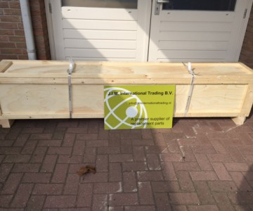 Crates with parts for delivery to Asia